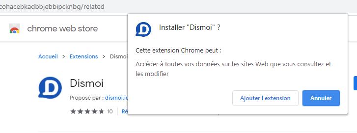 Chrome : Demande d'autorisation de l'extension à accéder à toutes vos données sur les sites web consultés